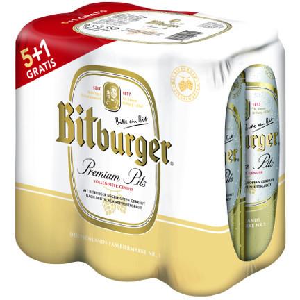 Bitburger 0,5l 5+1lim